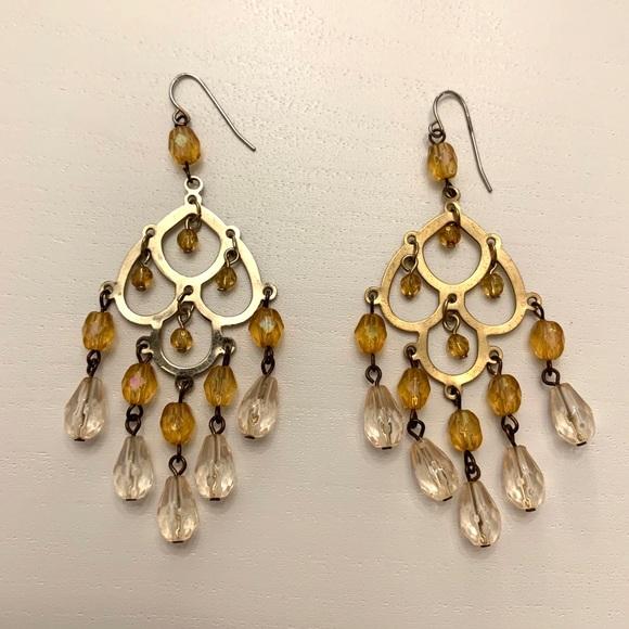 Anthropologie Jewelry - Anthropologie chandelier drop earrings 🌟🌟💫💫